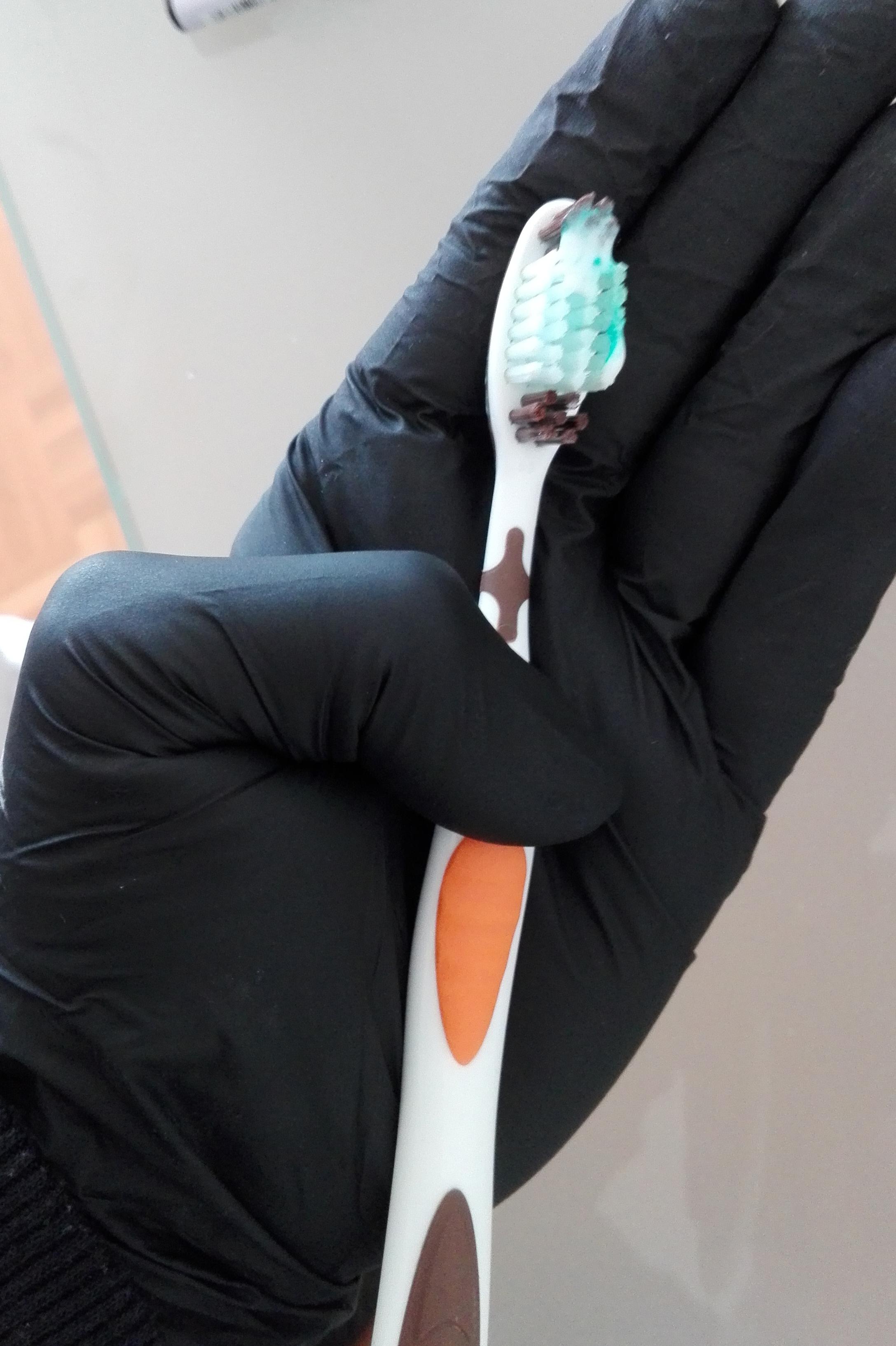 Gebrauchte Zahnbürste